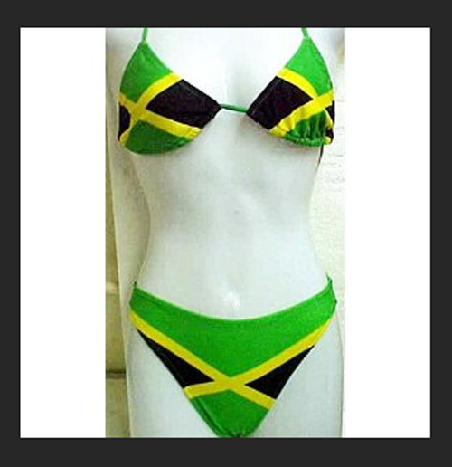 499bc042ab2 Jamaican flag string bikini- Jamaica swimsuit