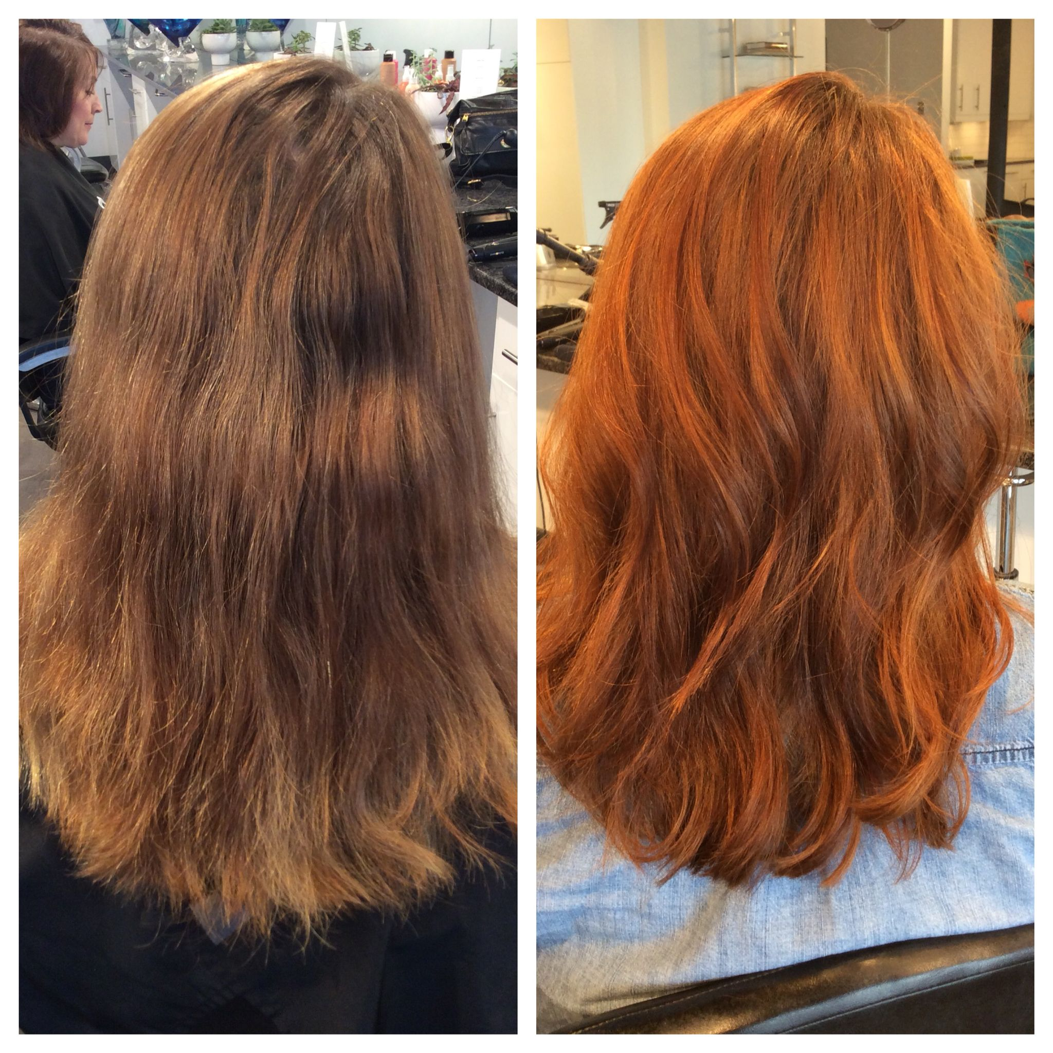 Hair Color Transformation From Faded Light Brown To Vibrant