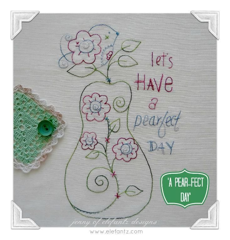 Looking for your next project? You're going to love A Pear-fect Day - stitchery by designer Elefantz.