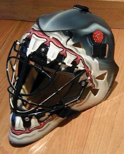 Shark Teeth Painted On Helmet Google Search Hockey Helmet Hockey Mask Goalie Mask