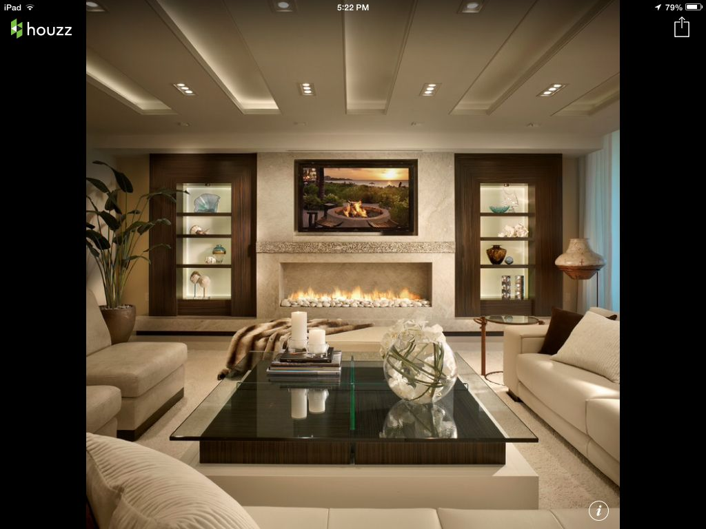 Living Room Houzz House In 2019 Luxury Homes Interior