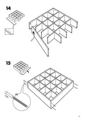 IKEA EXPEDIT 4x4 Bookshelf Instructions by Tigratrus in