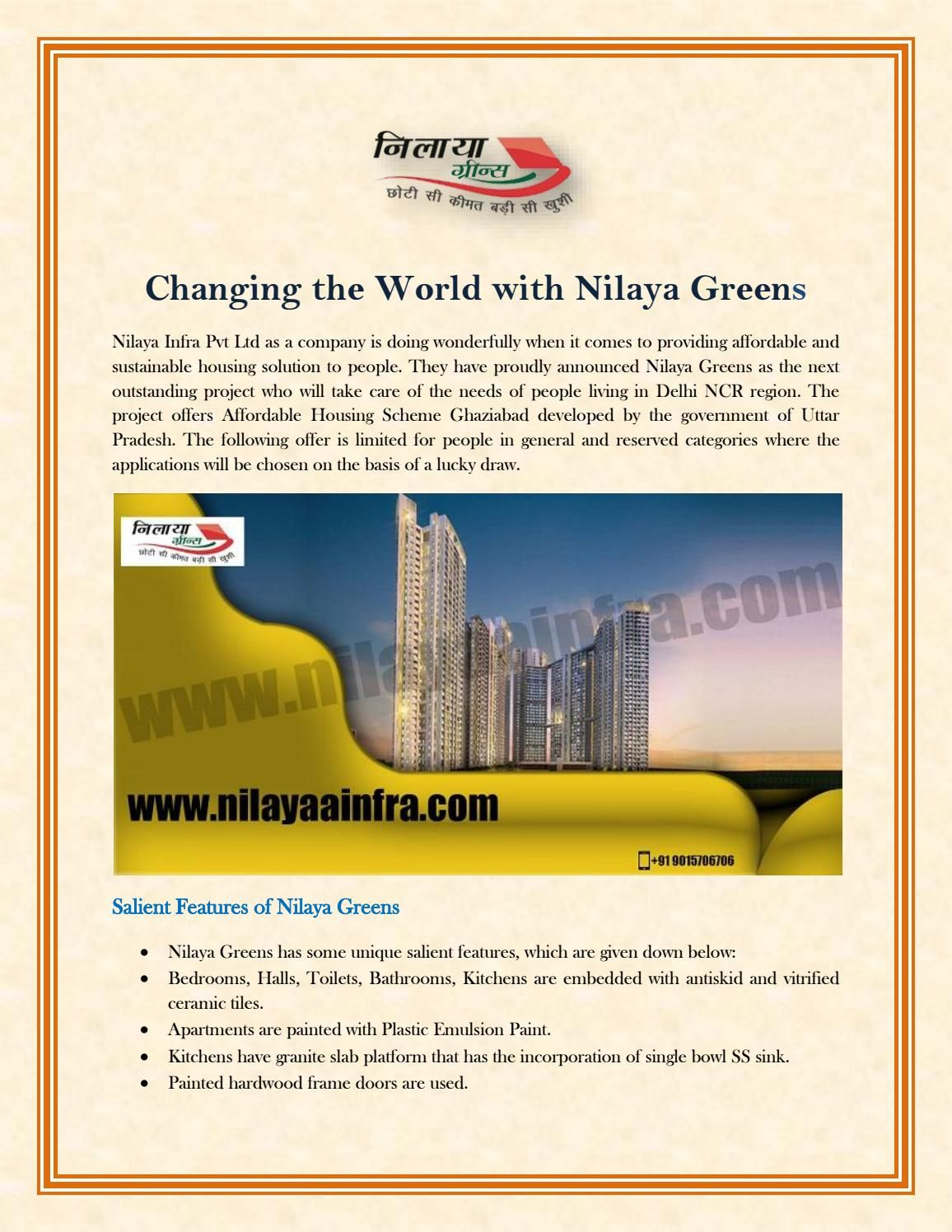 Changing The World With Nilaya Greens Change The World