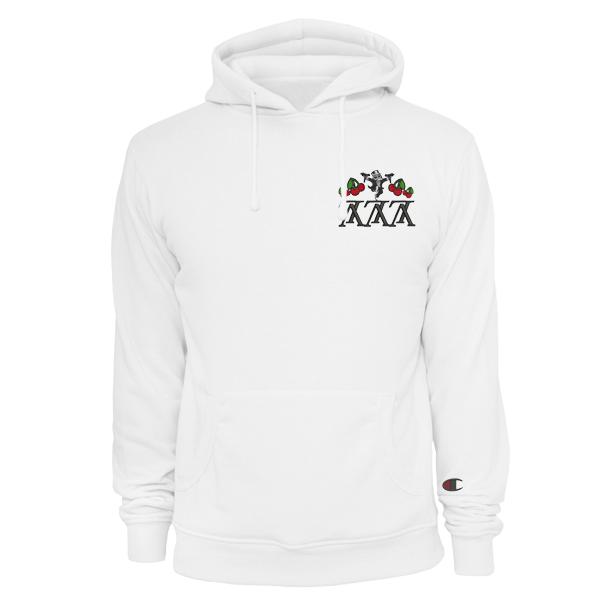 2d49e978 LVcky 7'S Heist x Champion Hoodie White   clothing   Hoodies ...