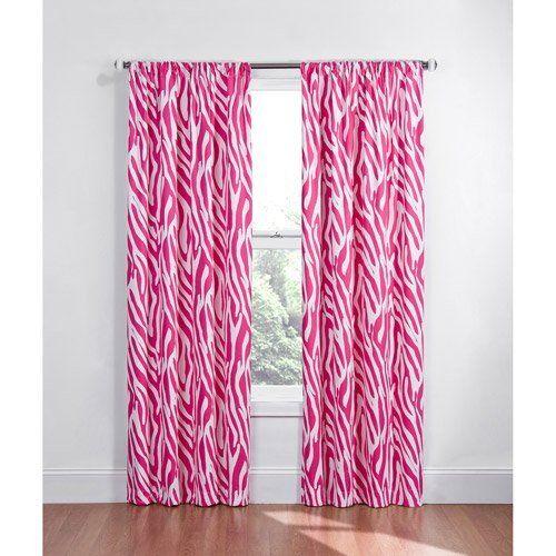 Pink White Zebra Blackout Energy Saving Noise Reducing Window