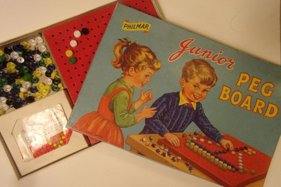 Vintage 1960's Junior Peg Board by QuiteQuiteContrary on Etsy