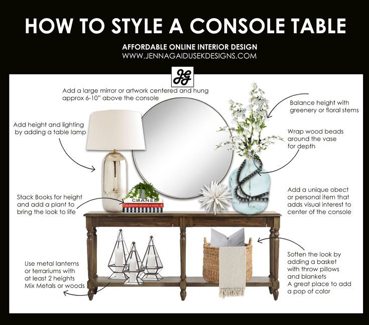 How to Style a Console Table with a Refined Farmhouse Touch — Jenna Gaidusek Designs #interiordesigntips