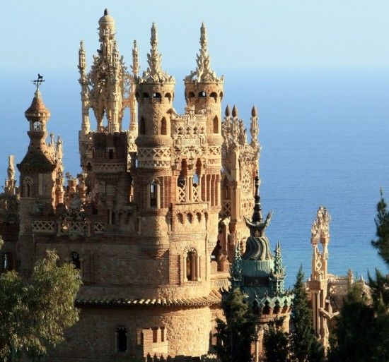 Castle, in the Spanish town of Benalmadena - a combination of Byzantine, Roman, Gothic and Mudejar architectural styles