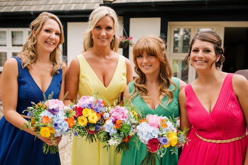 Talk about colour-pop – a perfect summer wedding!