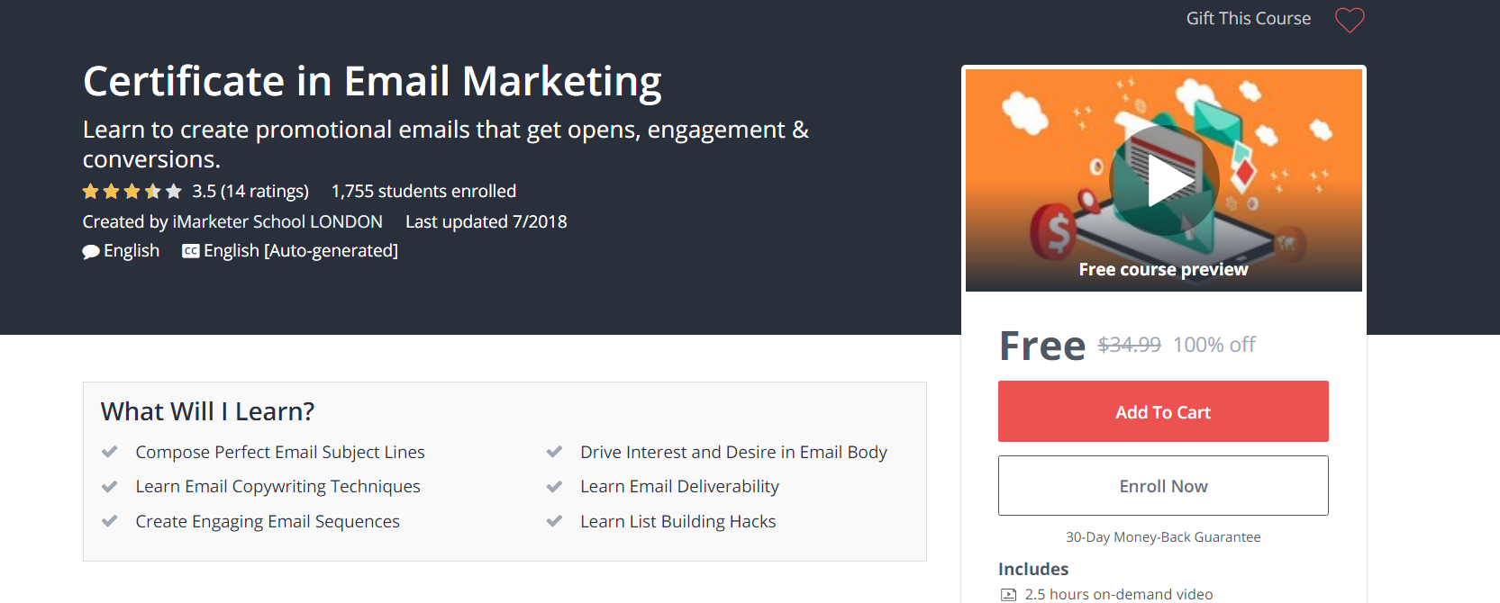 Certificate in #Email #Marketing #udemy #course #free Learn to