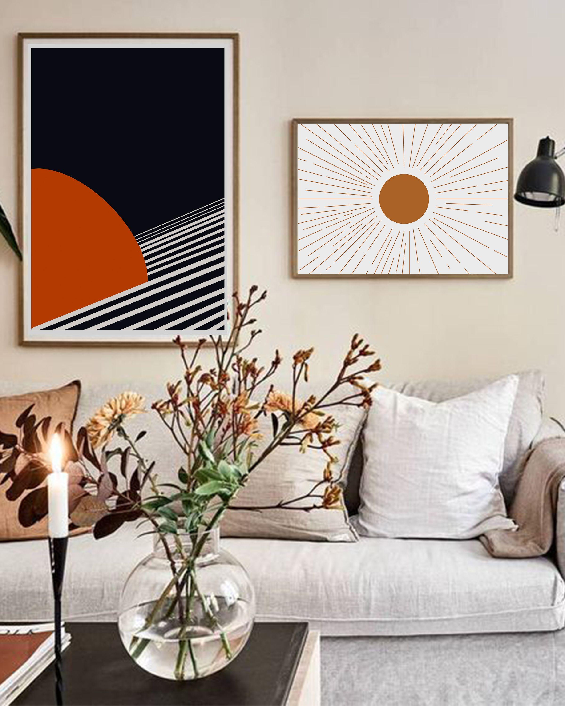 Modern Saturn Wall Art, Office Decor, Modern Abstract Art ... on Modern Boho Wall Decor  id=50329
