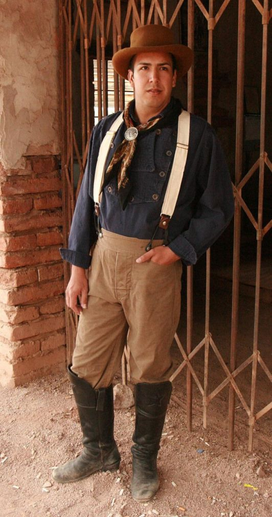 Cowboy Pants Victorian Style Old West Trousers Mens Jeans. $72.00 via Etsy.