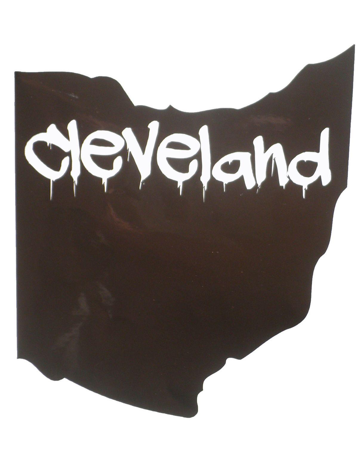 Get This Cool Cleveland Ohio Sticker Online At US Custom - Custom vinyl decals cleveland ohio