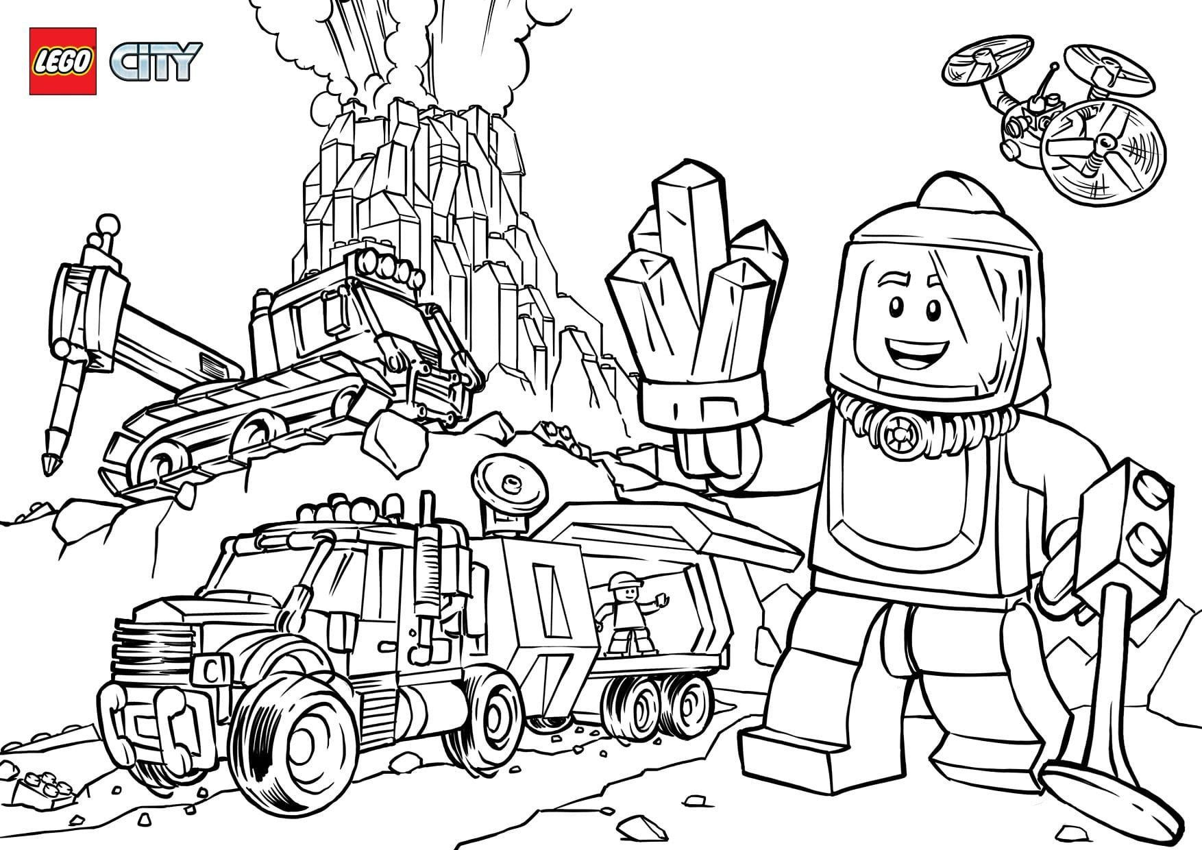 Lego City Coloring Pages Volcano - Coloring Pages Ideas