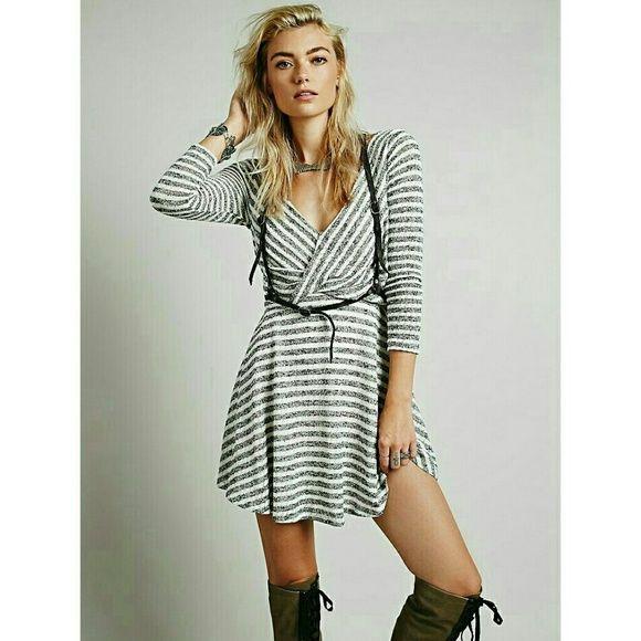 7f7155e1060f7 Free People Striped Maverick Dress Skater dress meets a wrap dress. Super  comfy and has
