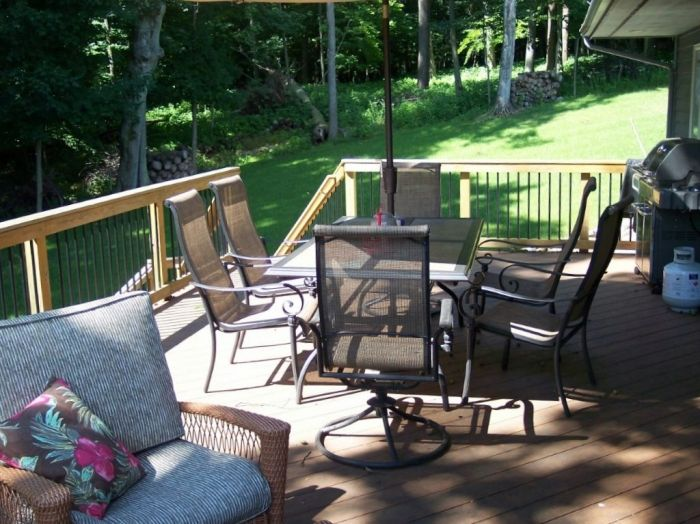 A well planned deck allows for your table, chairs, grill and traffic flow.