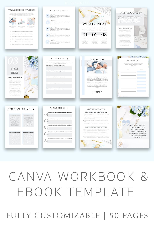 50 Canva Workbook Template Editable Ebook Canva Template Customizable Ebook Templates Ecourse Template Digital Workbook Templates Workbook Template Ebook Template Plan Book Template