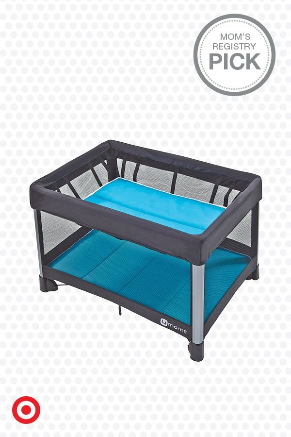 Whether you're at home or away, it's easy to give Baby a safe place to play with the 4moms Breeze Play Yard. It opens and closes in one, simple step, folds neatly in its own travel bag and includes an infant bassinet and leak-proof changing pad. A great find for your registry!