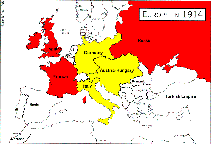 Allied Powers Countries That Opposed The Central Powers In The First World War World War World War I Europe Map