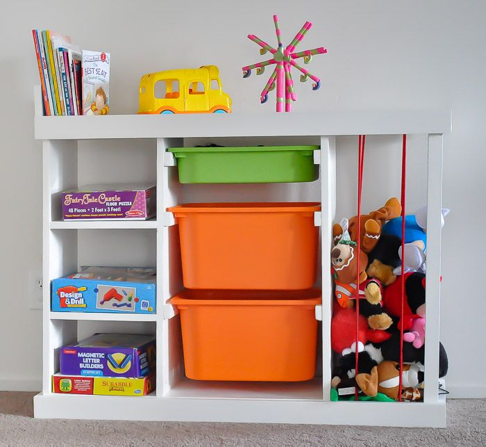Easy Diy Kids Table With Storage Build Plans Anika S Diy Life Toy Storage Solutions Toy Organization Diy Diy Toy Storage