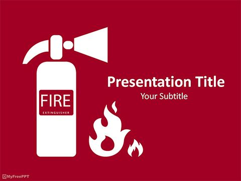 Fire extinguisher powerpoint template medical template pinterest fire extinguisher powerpoint template toneelgroepblik Image collections