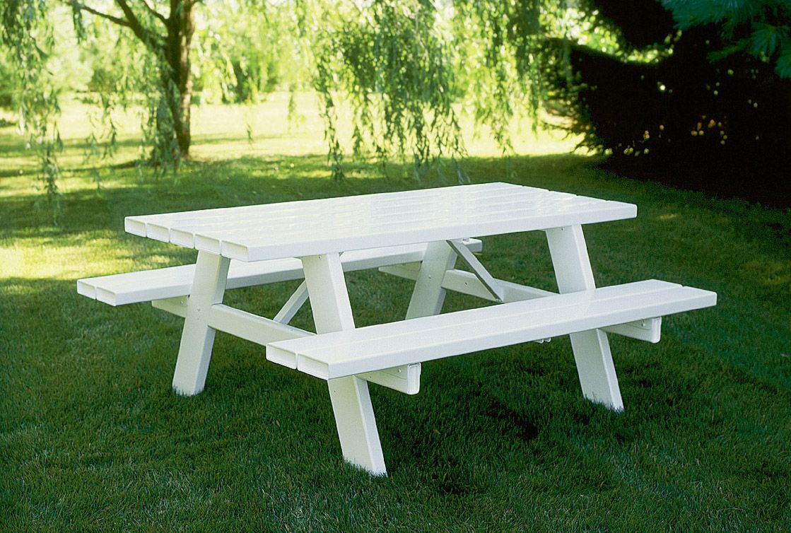 Modern White Picnic Table Design Ideas With Benches Painted Tables Folding