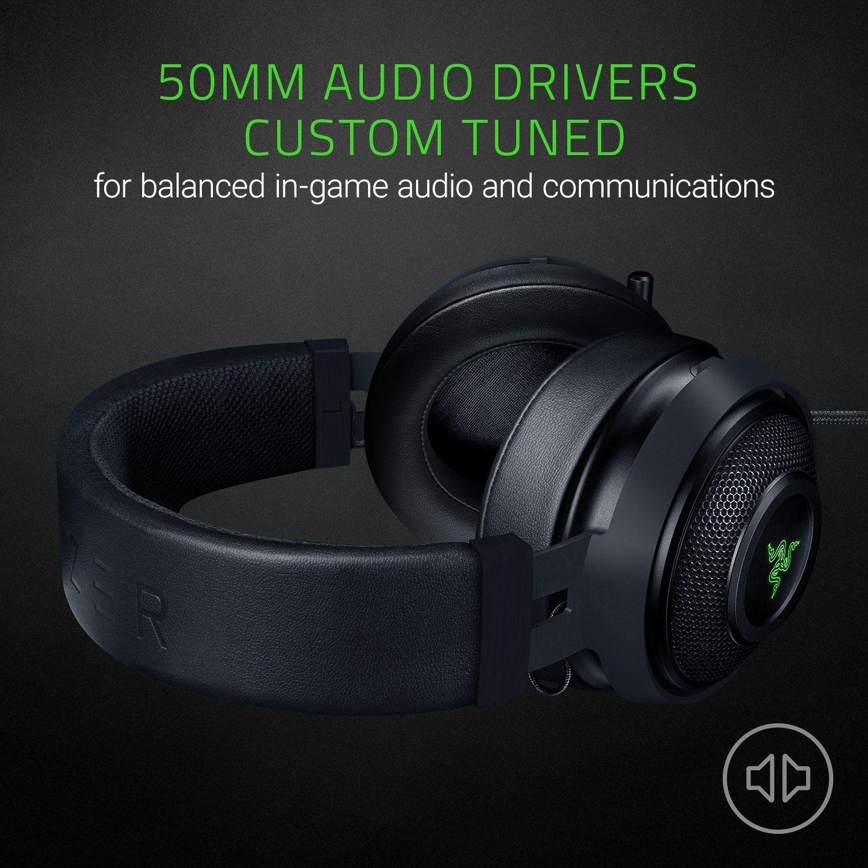 Razer Kraken 7 1 Chroma V2 Usb Gaming Headset Oval Ear Cushions 7 1 Surround Sound With Retractable Digital Microphone And C Gaming Headset Headset Ps4 Black
