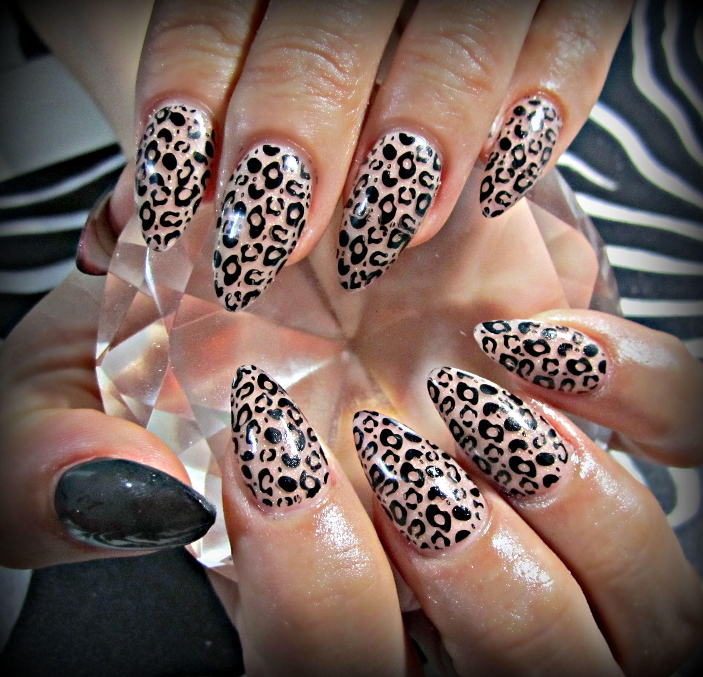 Leopard Print Acrylic Nails Nails C Pinterest Nail Envy