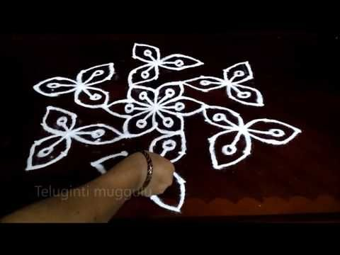Latest flower rangoli design with dots creative kolam simple also rajyalakshm on pinterest rh