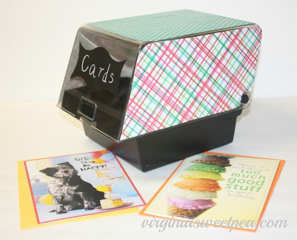 Need A Way To Store Birthday Cards Check Out Thrift Stores And Yard
