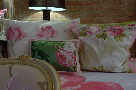 Romantic Style Decorative Cushions In Pink And Green Soft Blush Extraordinary Pink And Green Decorative Pillows