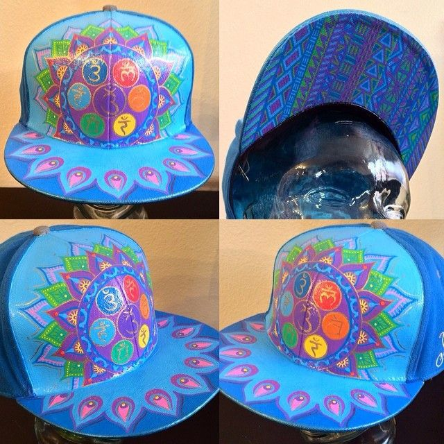 Custom Painted Grassroots California Hat by MAMA ANA Painted Hats beb0a853cda