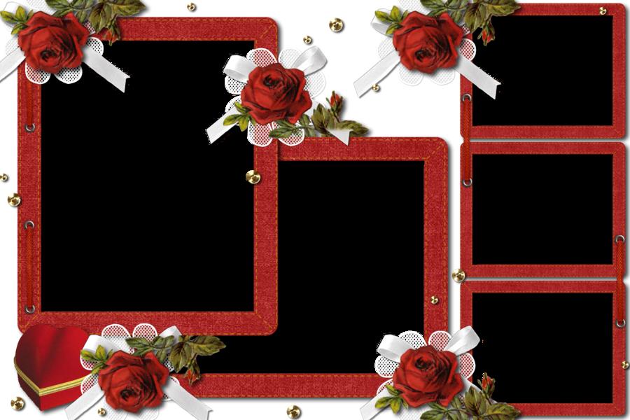 Red Rose Frame By Umbhra On Deviantart Rose Frame Wedding Frames Flower Frame Png
