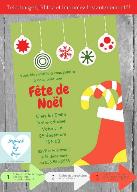 Fete Noel Invitation Fête de Noël, fête d'entreprise, fête de famille, Noël