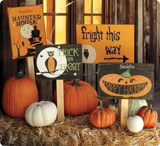 Wooden Halloween Signs Happy Halloween! Pinterest Wooden