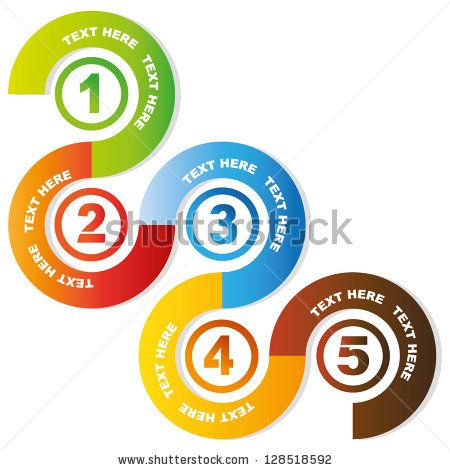 5 circular sequences diagram, business process flow presentation - process flow chart examples free