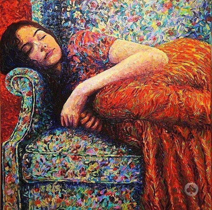 As pinturas de Iris Scott são feitas com os dedos. —