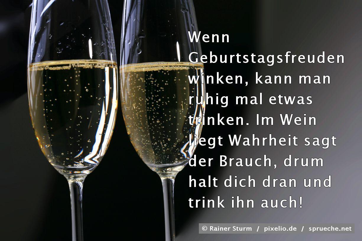 Geburtstagswünsche. | Spruch: Wenn Geburtstagsfreuden ...