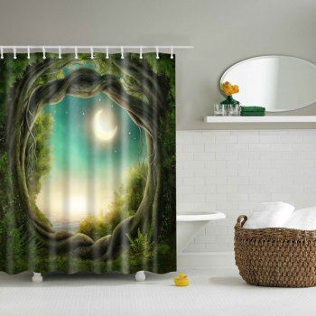 Share Get It Free Bathroom Tree Natural Scenery Waterproof