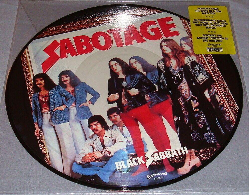 Black Sabbath Sabotage Original Picture Disc Lp Still Sealed Black Sabbath Black Sabbath 13 Sabbath