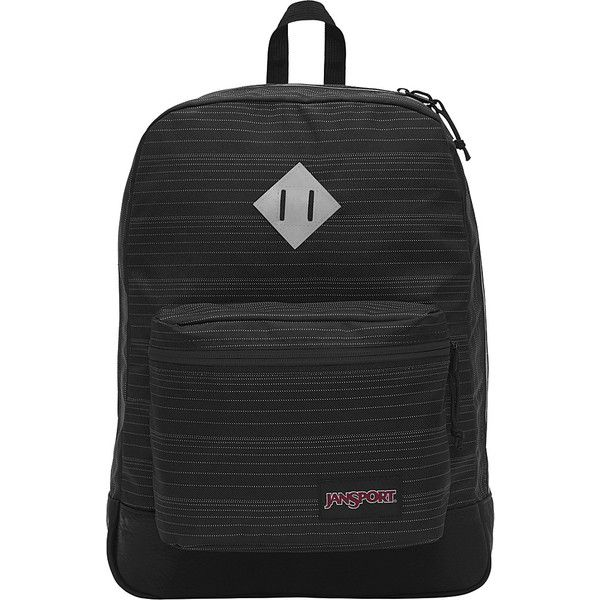 JanSport Super FX Series Backpack - Reflective Horizon - School... ($50) ❤ liked on Polyvore featuring bags, backpacks, black, utility bag, pocket backpack, day pack backpack, jansport backpack and knapsack bag