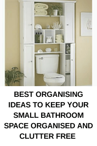 BEST ORGANISING IDEAS TO KEEP YOUR SMALL BATHROOM SPACE ORGANISED AND CLUTTER FREE - ComfyMama #organizationideas #decluttering #declutter #smallbathroom #bathroomspaces