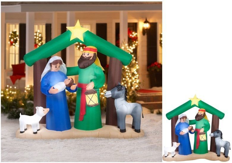 Nativity Inflatable Outdoor Christmas Decoration Holiday Scene Yard - inflatable outdoor christmas decorations