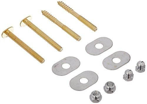 "PlumbCraft Toilet Bolt & Screw Set, 1-1/4"" x 2-1/4"", Brass, #76-419"