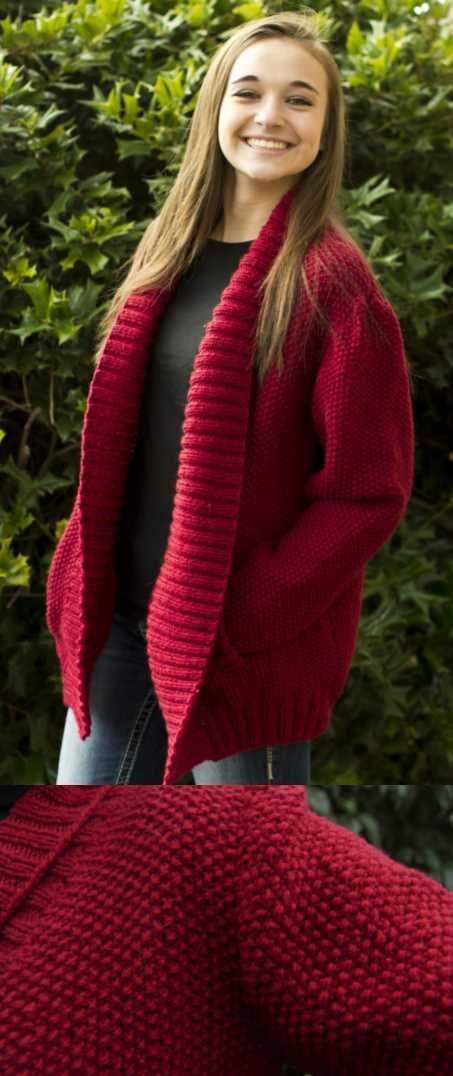 Free Knitting Pattern for a Simplicity Shawl Collar Jacket ...