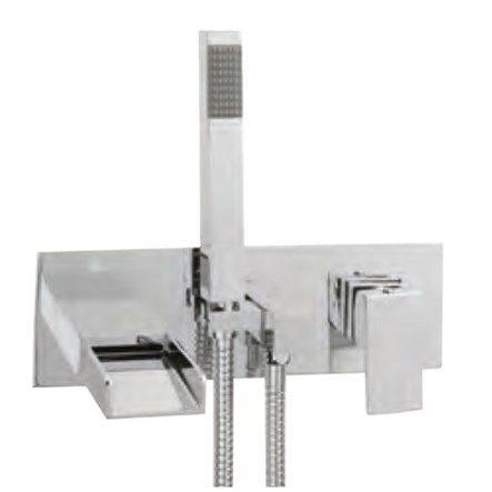 Vellamo Flume Wall Mounted Bath Shower Mixer No 1 Kit Wall Mounted Bath Taps Bath Shower Mixer Bath Shower Mixer Taps