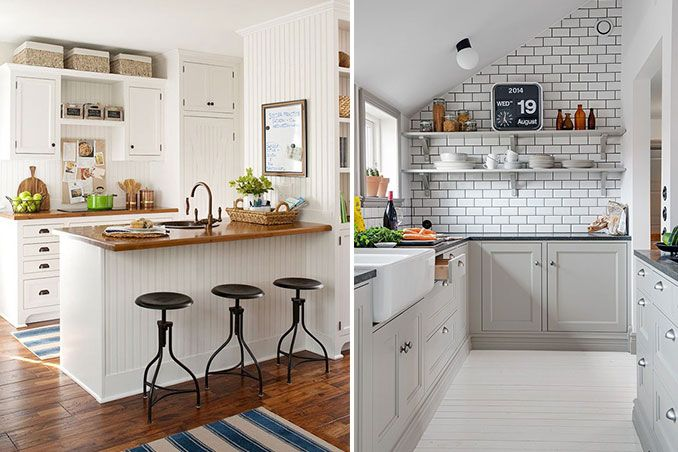 5 Small Kitchens From Pinterest Small Kitchen Small Space