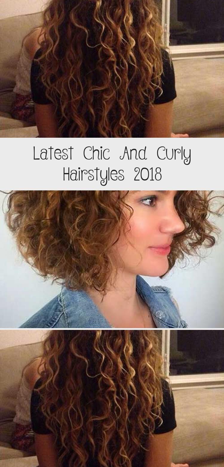 Neueste schicke und lockige Frisuren 2018 #curlyhairVideos #Loosecurlyhair #curlyhai …