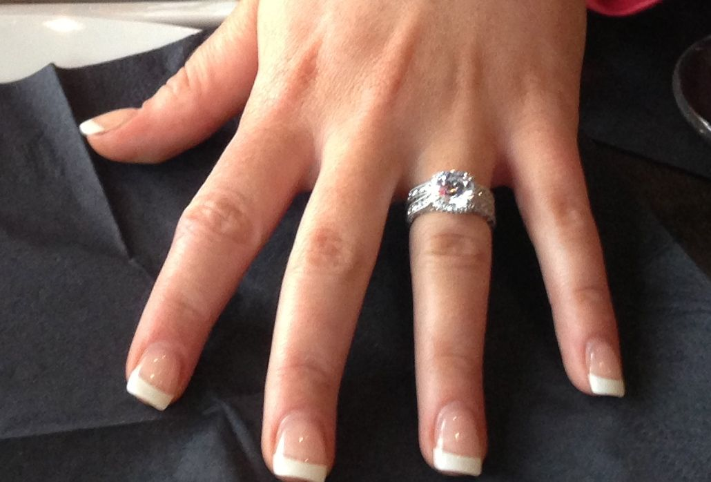 My engagement and wedding ring (which I shouldn't be