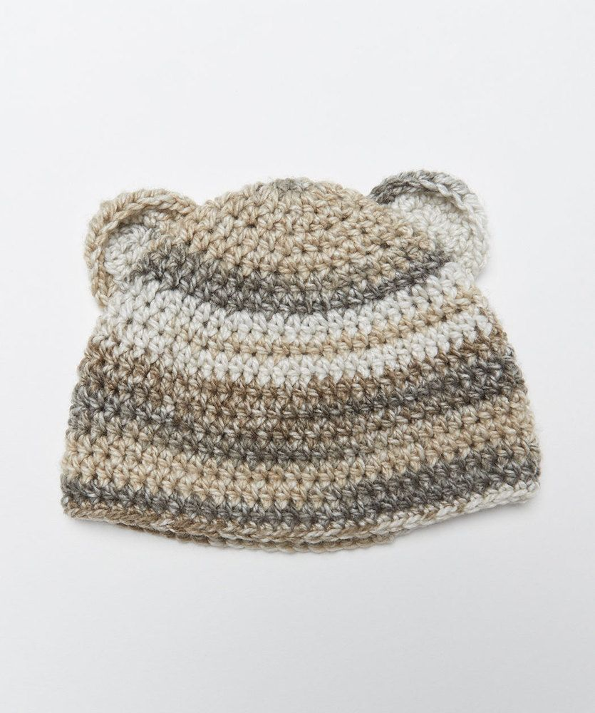 Crochet Bear Hat   Red Heart   Grandchild   Pinterest   Crochet bear ...